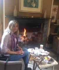 Afternoon tea by the fire :)