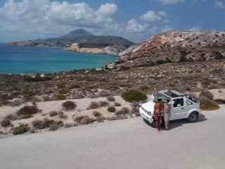 Road tripping in Milos, Greece