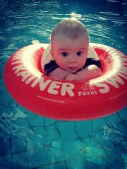 our beautiful great grandson Izaiah 6 months old