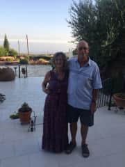 Jeff and Linda at their home in Cyprus