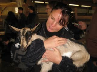 Beth only wanted to visit a goat farm on her birthday - Surprise!
