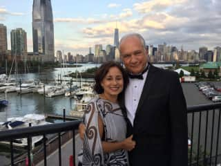 Arturo & Nereyda at a friend's daughter's wedding in New York