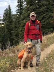 Tugger loves to hike