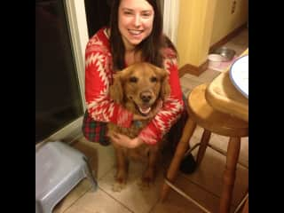 My fave pic with my family dog, Nala.