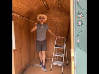 Being handy on the farm, Kaleden BC, June 2021.