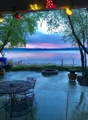 Beautiful Bear Lake at our cabin