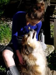 Annie with her dog Mia