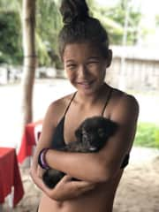 Wherever we are in the world, we are always looking for pets to love on! This puppy was on the beach in Malapascua, Philippines. 💜