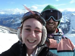 Snowboarding at Treble Cone, New Zealand
