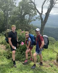 Hiking Appalachian trail with two of my four brothers!