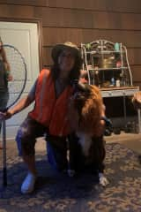 One of my favorite dogs that Duke and I stay with, Malu! We were playing dress up with his lion costume