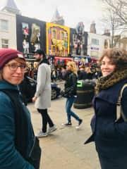Taking my friends on a walk around Camden