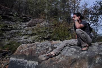 Stephen hiking