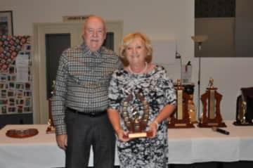 Linda and I winning Bowls Pairs