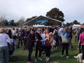 Paws walk with family