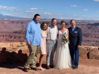 Austin, Brenda and Craig at Amanda and Atley's wedding in Utah.