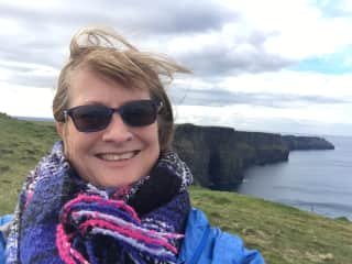 Windy at the cliffs in Ireland