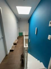 Second floor with bedrooms and bathroom