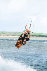 Shawn is a professional kitesurfer and runs a kite school at our resort (www.surfandsoul.com). We both love to kitesurf and is how we met.