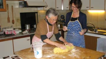 Learning how to make gnocchi with Anna in Langhe