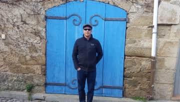 Derrick exploring villages in France.