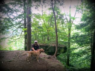 Hiking with Cosmo the Wonder Dog!