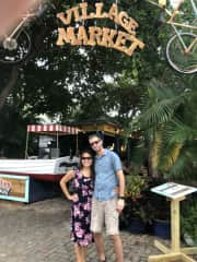 Brian & Toshie traveling in Key West, Florida. We are grabbing some breakfast at local restaurant.