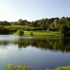 The beautiful lake you can see from our garden
