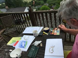 Dog painting in Wales