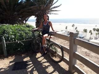 beach cruising in Santa Monica
