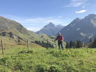 Doug hiking in Switzerland 2018