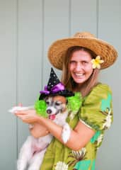 Oreo and I on Halloween in Maui- all dressed up!