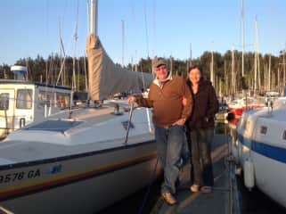 On the docks with our sailboat