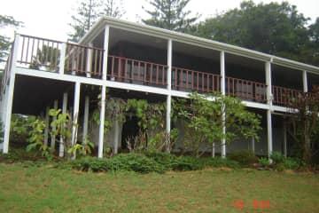 Back deck to overlook valley and ocean