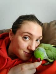 Habibi and I snuggling