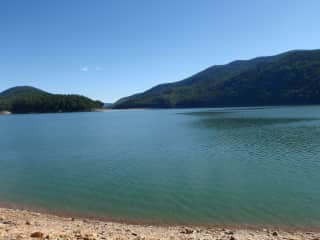 The referenced lake in the mountains of Virginia