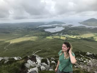 Hiking in wonderfully green Ireland.