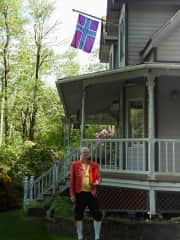 Me in Vestfold bunad on Syttende Mai at home