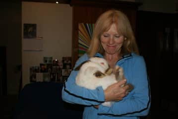 My daughter's pet rabbit a few years ago.  He only liked being held like a baby.