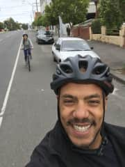 As a dutchie Joel loves riding  his bike, and so does Melina.