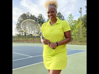 I may not be Serena Williams, but I can give you a good rally!!