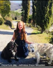 Tuscan housesit sweeties - lots of gorgeous walks in the Italian hills.