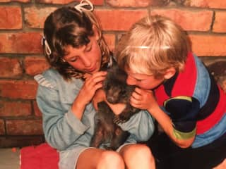 My sister and i looked after wombats and kangaroos that had lost their parents when we were little