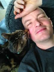 Me and my loved rescued cat Zoey