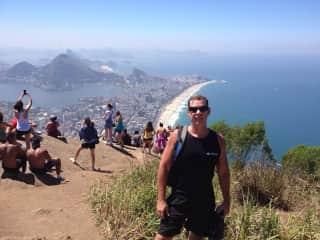 Me atop Dois Irmaos overlooking Rio