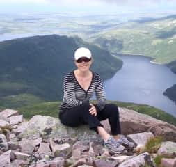 Shannon hiking in Newfoundland