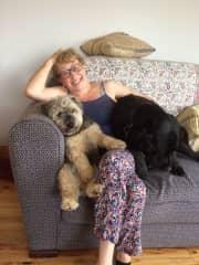 Barney, Farah and myself relaxing