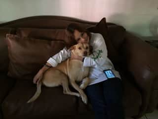 Nereyda with our rescue dog Bailey
