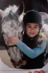 One of my daughters at the local stables