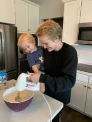 Baking with Cousin